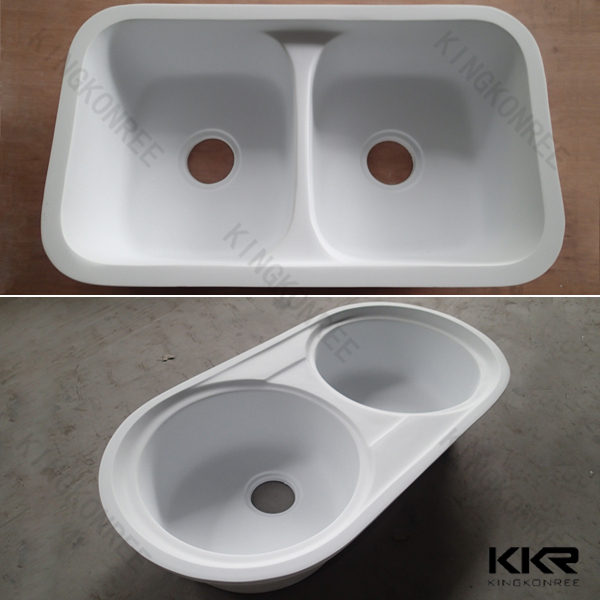 Custom Fabricated Special Solid Surface Kitchen Sinks