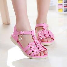 Summer Children Girls Kids Flower Sandals Zapatos para ninos princess shoes S2870
