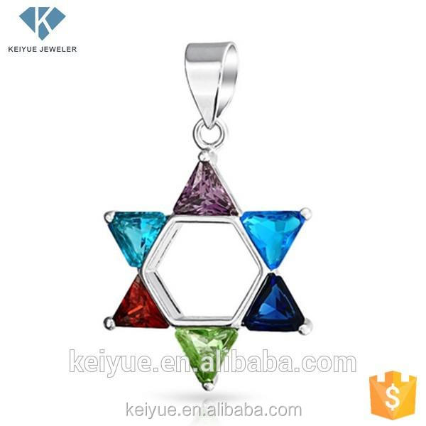 Colorful star shaped stone jewelry pendant necklace kids jewellery