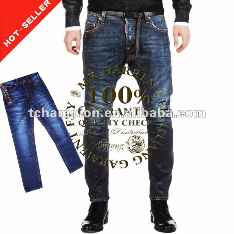 (#TG058M) 2012 100% Cotton Slim Fit Latest Design italian jeans