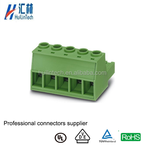 PCB 10.16mm pin high-power screw terminal block with 5 pole