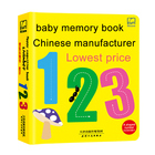 Chinese manufacturer children's early teaching english ABC numeral book baby memory book printing service