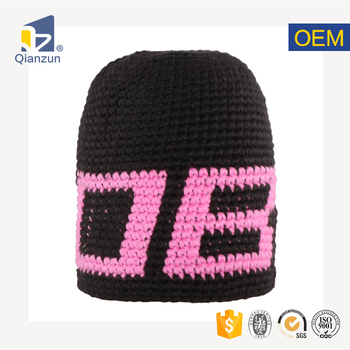 7615f022b32 decorate knitted plain knit beanie hat with pom cotton crochet pattern for  women