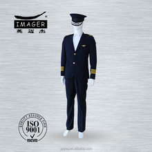 Navy blue army military captain uniform with customized peaked caps