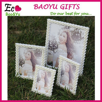 Hot Selling Wedding Photo Picture Frames Handmade Pearl Picture