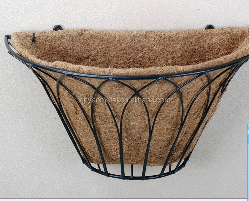 Decorative metal wall basket Wall planters Wrought iron wall planter Metal Garden  Wall basket Outdoor wall