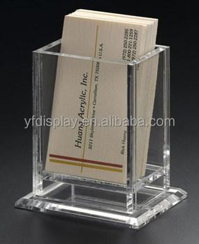 Acryl Tisch Desktop Visitenkartenhalter Tasche Visitenkartenhalter Buy Einzigartige Visitenkarten Etui Für Schreibtisch Wandbehang