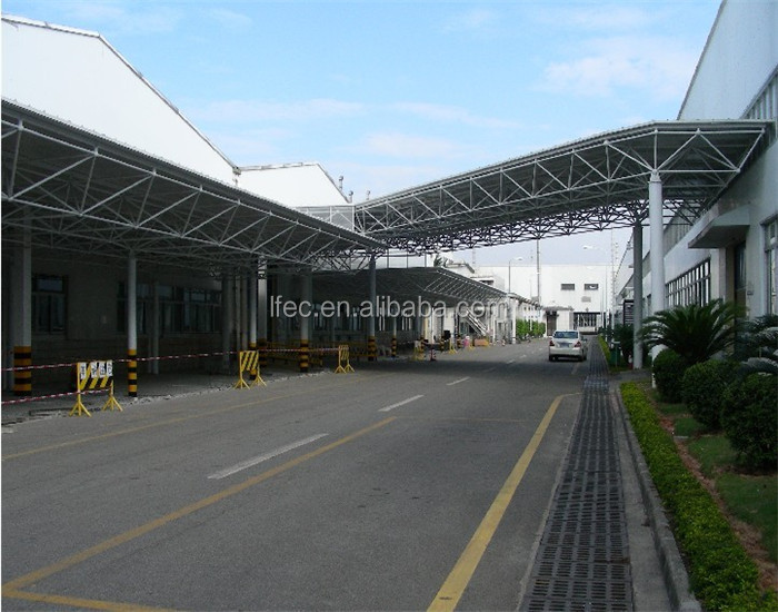 high standard prefabricated two story steel structure warehouse