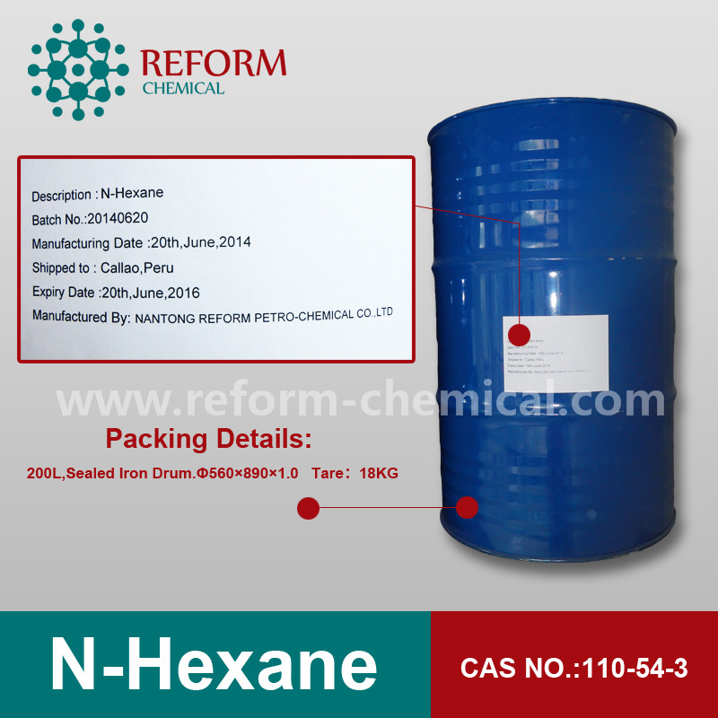 food grade N-hexane 97% CAS NO.110-54-3