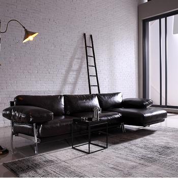 Luxury Pu Leather Wellington Sofa L Shaped Clasic Metal Base B2b