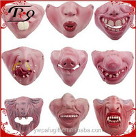 funny halloween party supplies latex half face mask