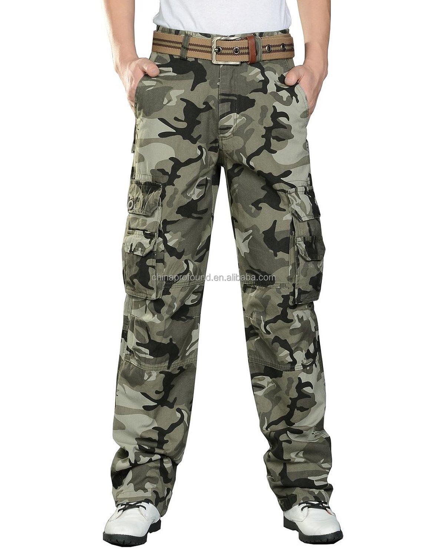 b5708aec8a30e wholesale camo pants cotton fabric pants man pants with side pockets