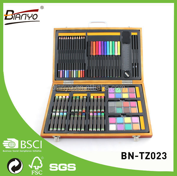 Good quality wooden box art painting set art paint set