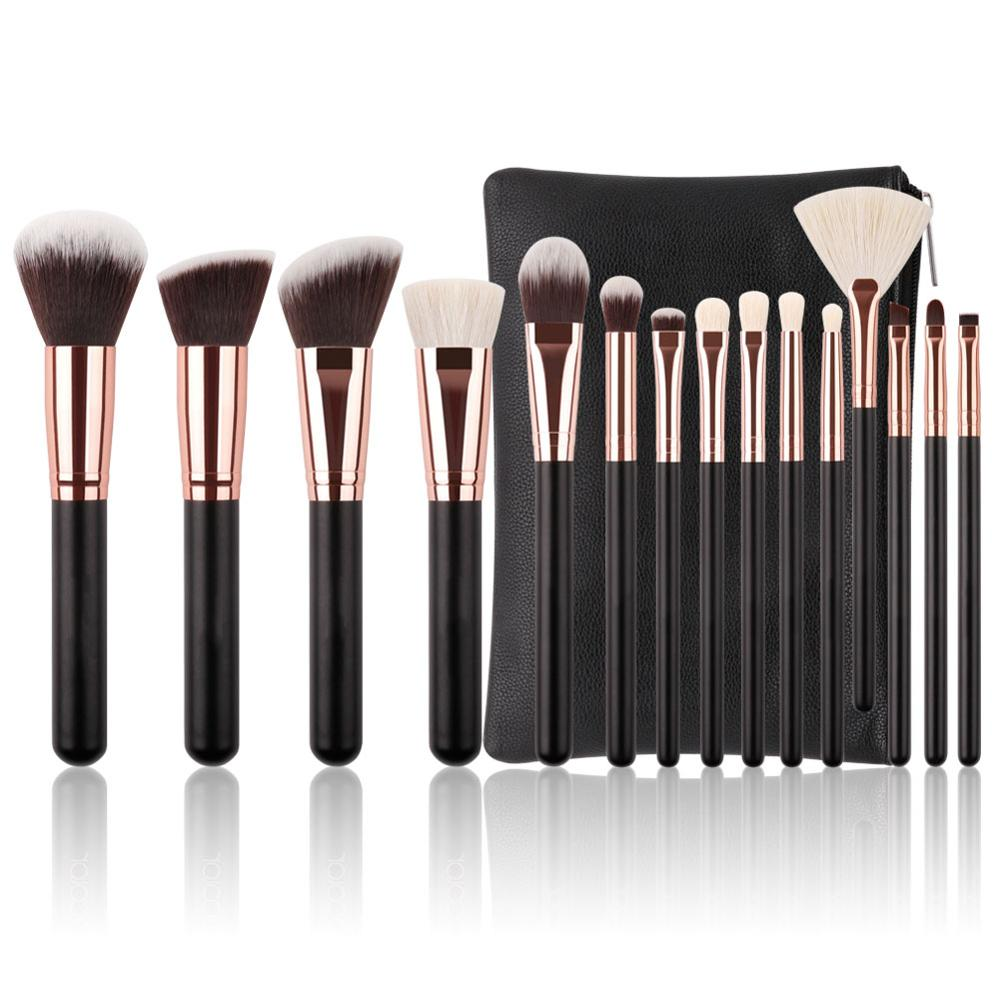 Make-up borstel set 15 stks hoge kwaliteit make-up borstels met zak