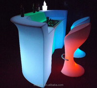 Bar illuminated led furniture for exhibiton, home decoration bar counter with led lights