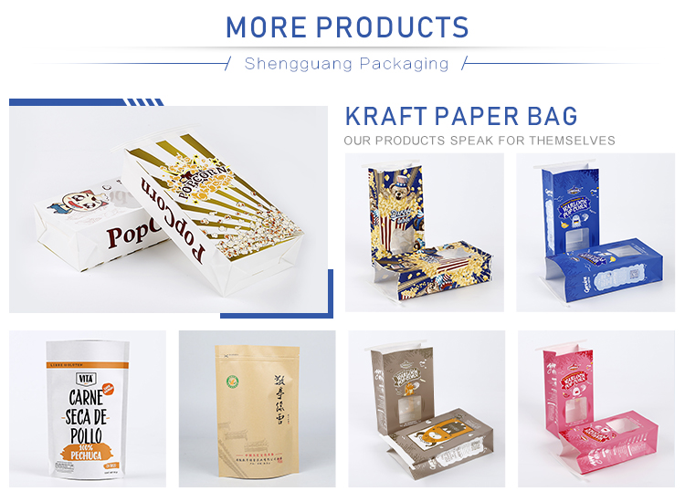 cheap custom printed plastic food packaging kraft paper bags with oval window