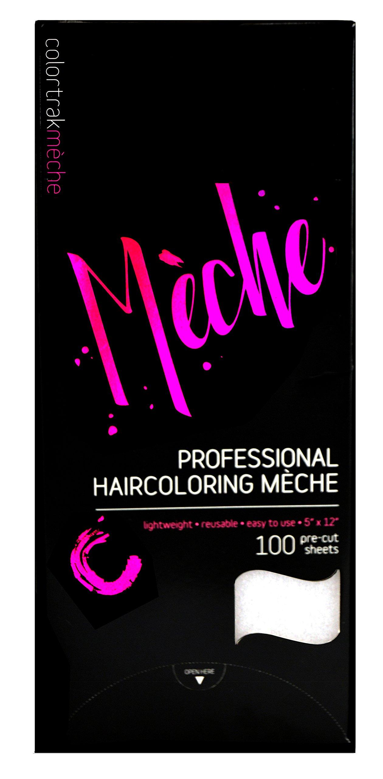 "Colortrak Professional Reusable Hair Coloring Meche Sheets, Standard 5"" x 12"" Size (100 Count)"