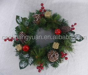 High Quality Beautiful Artificial Xmas Green Wreath/Christmas Decorative Wreath
