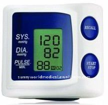 SW-DBP001 digital blood pressure monitor and sphygmomanometer of Wrist Type BPM