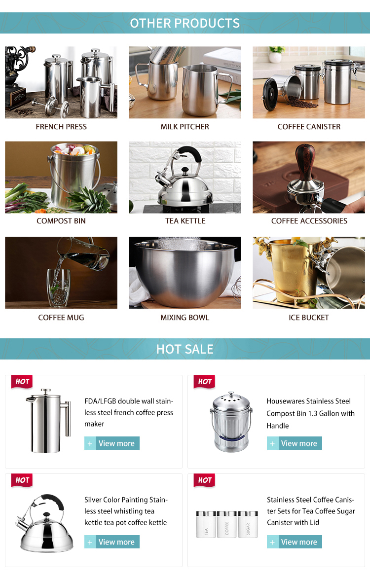 High quality multi-color SS304  Coffee Makers