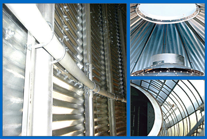 Concrete Foundation Silo / 10000 Ton Grain Silo / Flour Mill Silo With Conveying And Drying System