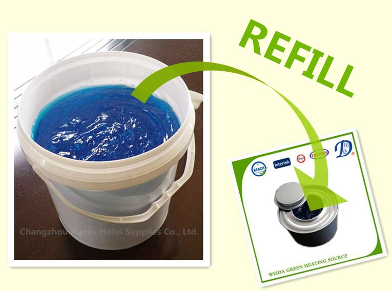 4kg plastic bucket packing methanol gel fuel