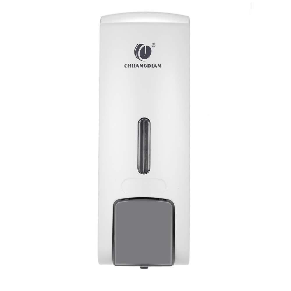 chuangdian 300ml Wall-mounted Single Bottle Manual Soap Dispenser, Washing Liquid Shampoo Shower Gel Machine