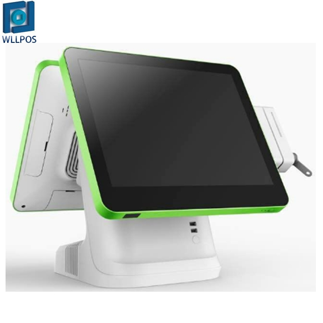 "New 나름 special design 15 ""capacitive touch monitor dual screen mix-color POS equipment."