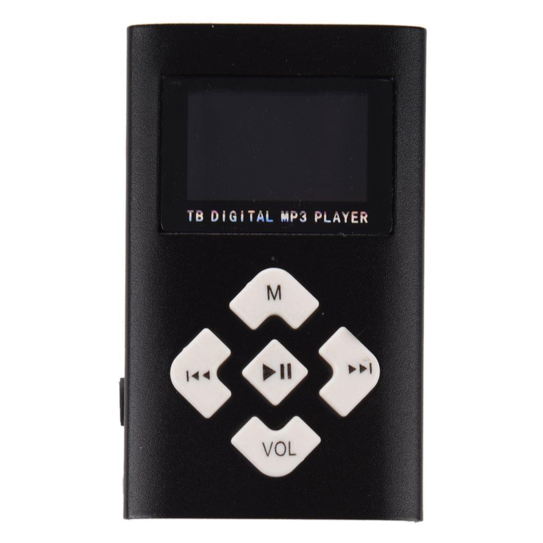 TOOGOO(R) LCD USB card MP3 player USB Support LCD Mini 32GB Mini SD TF MP3 Player (Black)