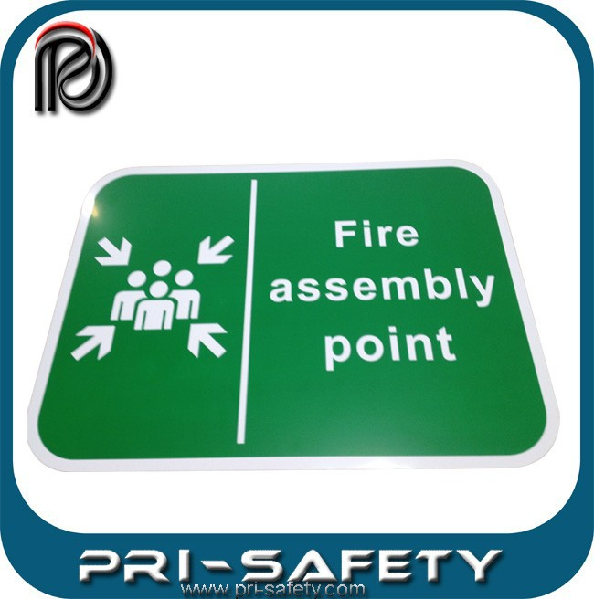 FIRE ASSEMBLY POINT SAFETY SIGN IN RIGID PVC WATERPROOF
