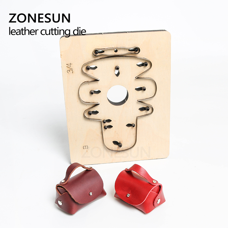 Electronic Components & Supplies Zonesun Customized Pig Shape Leather Diy Wooden Template Knife Punching Tool Coin Purse Cutting Mold Die Animal Japanese Steel Low Price