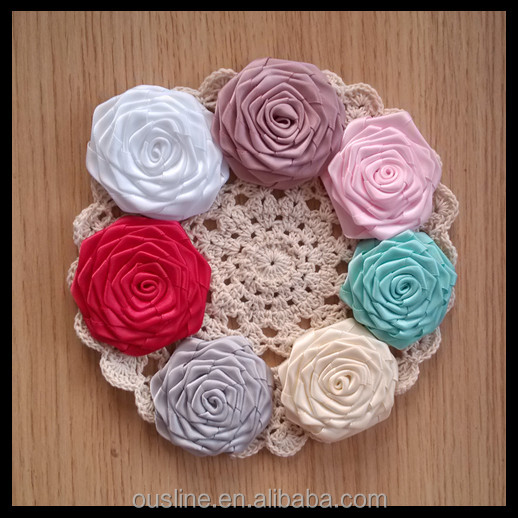 colorful ribbon rose <strong>flower</strong> embellishments,ribbon <strong>flowers</strong>,craft <strong>flower</strong>