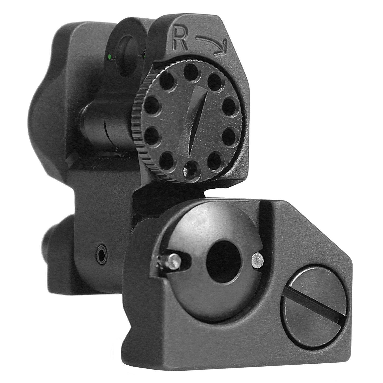 Troy Industries Folding Tritium Battle Sight Rear (Black)
