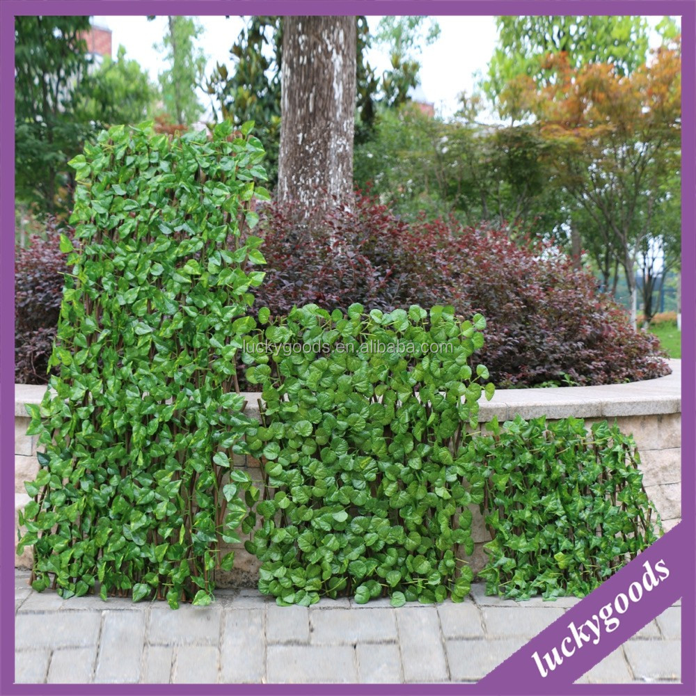 LLV083 wholesale factory made artificial leaf fence