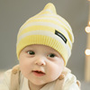 Custom and wholesale candy color striped combed cotton soft warm winter quality newborn organic baby beanies
