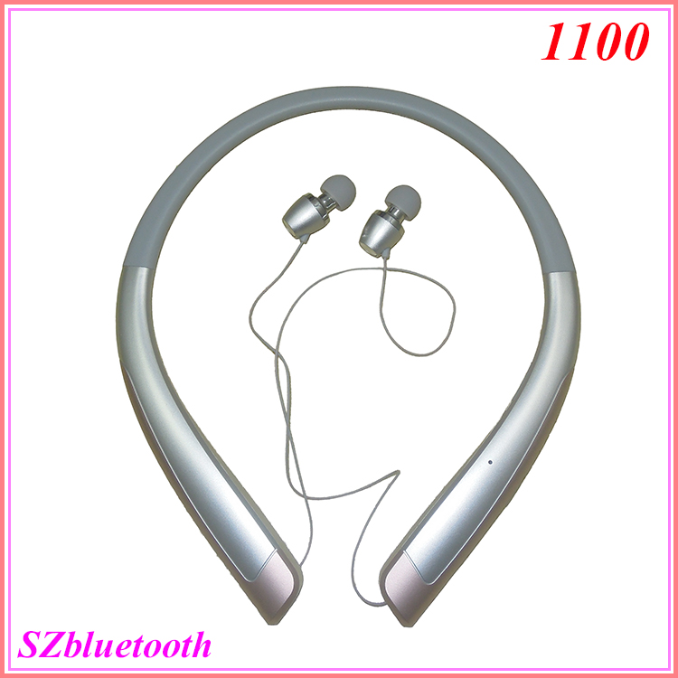 New model V4.0 HBS 1100 wireless stereo neckband bluetooth sport earphones