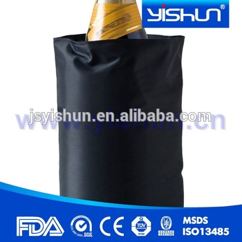 Promotional gift Golden custom neoprene champagne bottle cooler,holder