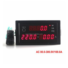 Red AC 80-300V/100A AC Digital Voltmeter Ammeter Panel Multi-function 0.31 Inch LED Ampere Voltage Power Meter Monitor