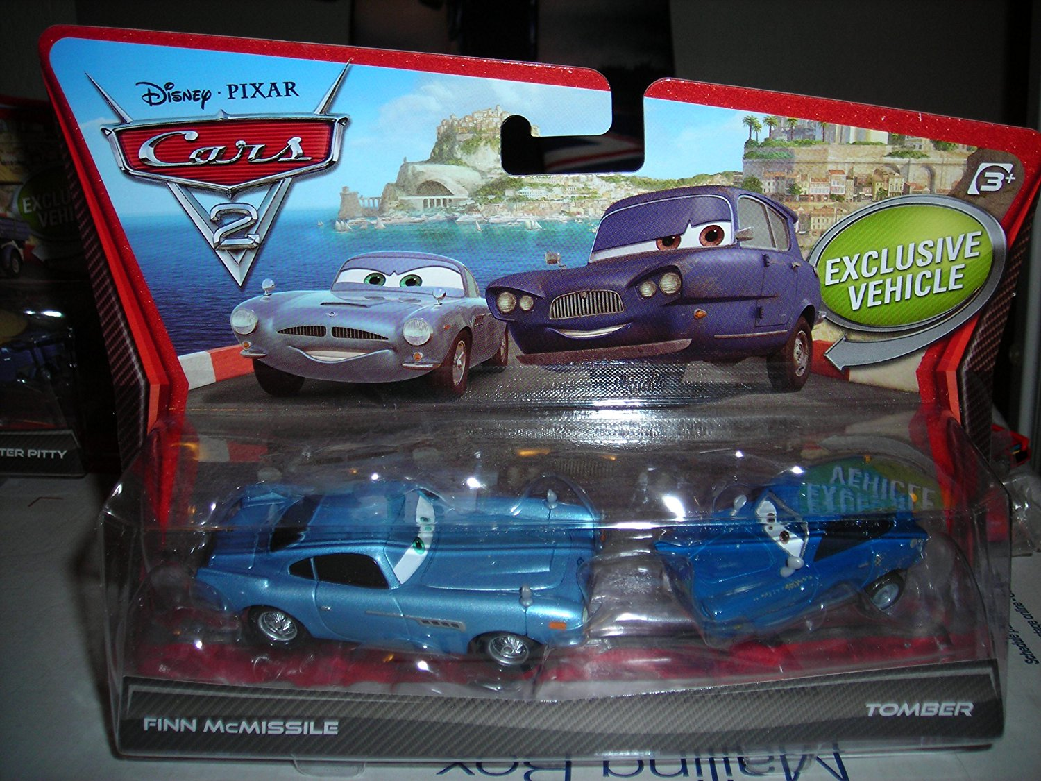 DISNEY PIXAR CARS 2 FINN MCMISSILE TOMBER 2 PACK EXCLUSIVE VEHICLE DIECAST VHTF NEW 1:55 SCALE MATTEL 2011