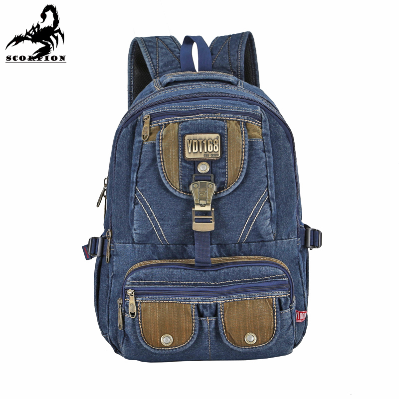 1Pcs 2015 New Hiking Camping Backpacks Cowboy Canvas Waterproof Women Men Tactical Military Travel Backpack