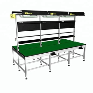 Europe standard electronic workbench with stainless steel table support