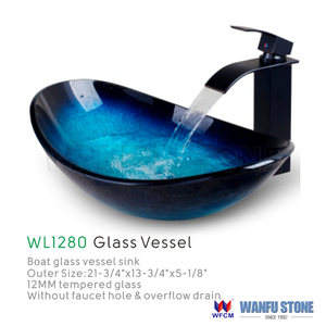 Genial Blue Glass Bowl Sinks, Blue Glass Bowl Sinks Suppliers And Manufacturers At  Alibaba.com