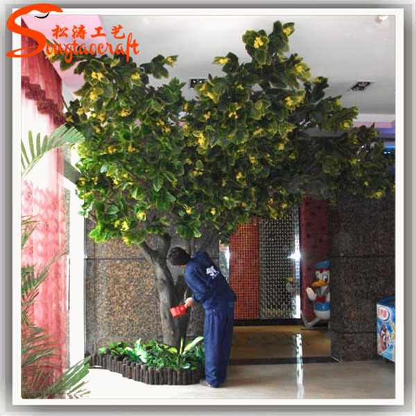 Decorative Artificial Plants Live Ficus Tree Floor Living Room Artificial  Ficus Lush Greenery Ficus