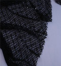 Black Mesh Sequins Lace Fabric