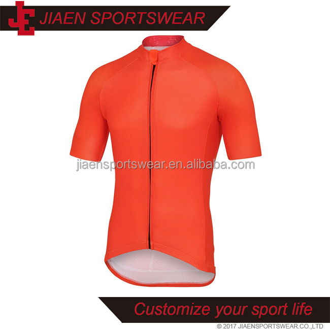China Custom Men 2017 Pro Teams orange Cycling Jersey With High Quality kids cycling jersey no minimum