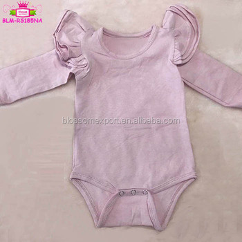 2e19cd95b Baby Girls Angel Wing Ruffle Rompers brand clothes playsuit one piece  custom bodysuit baby plain color