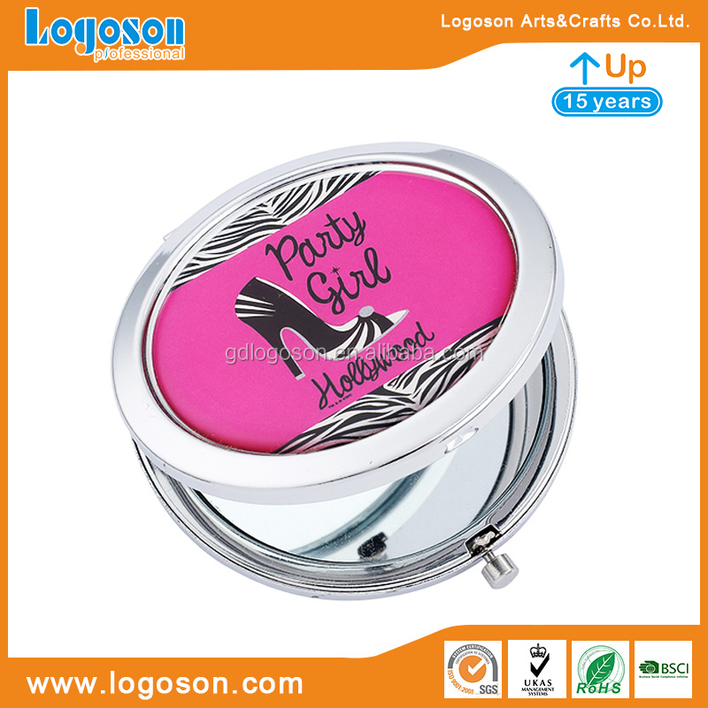 Promotion Classic Pocket Mirrors Collectible Tour Souvenir Round Mirror Metal Compact Mirror