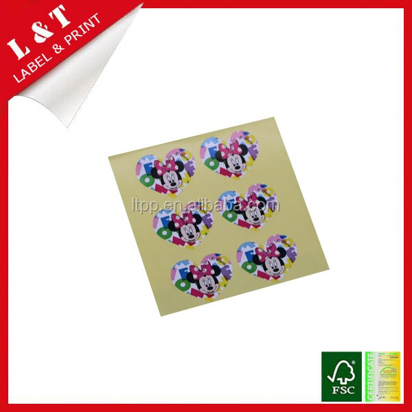Colorful kids cartoon sticker for garment