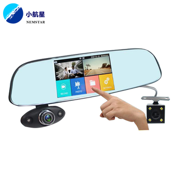Mini 5 Inch Screen touch Dash Cam Dual Lens 170 Degree Wide View Angle G Sensor Car monitor