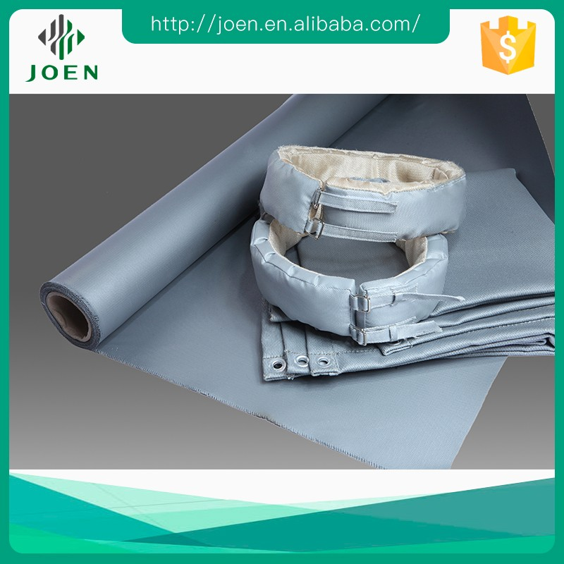 Thermal insulation silicone coated glass fabric for